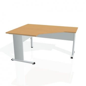 Psací stůl Hobis PROXY PEV 80 pravý, buk/šedá