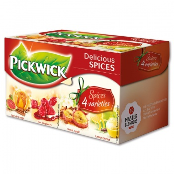 Variace čajů Pickwick Delicious Spices - 4 příchutě, 20 x 2 g