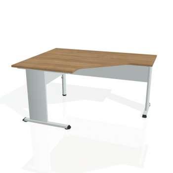 Psací stůl Hobis PROXY PEV 80 pravý, višeň/šedá