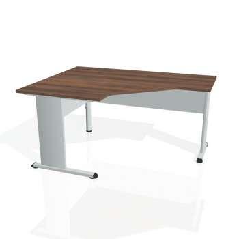 Psací stůl Hobis PROXY PEV 80 pravý, ořech/šedá