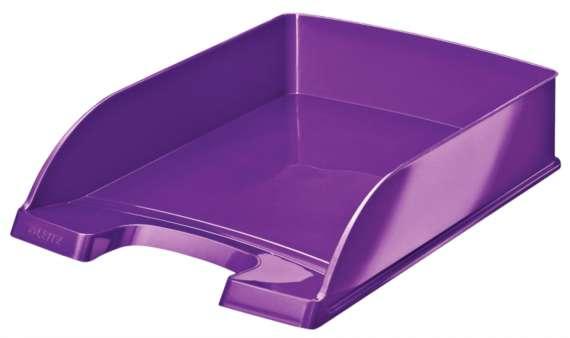 Zásuvka LEITZ WOW - A4, plastová, purpurová