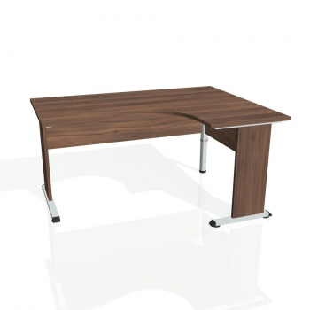 Psací stůl Hobis PROXY PE 2005 levý, ořech/ořech