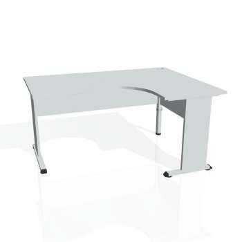 Psací stůl Hobis PROXY PE 2005 levý, šedá/šedá