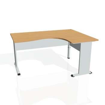 Psací stůl Hobis PROXY PE 2005 levý, buk/šedá