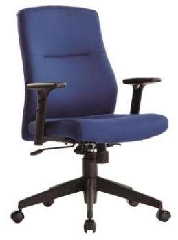 Kancelářská židle Realspace Stanley synchronní - bez područek, modrá