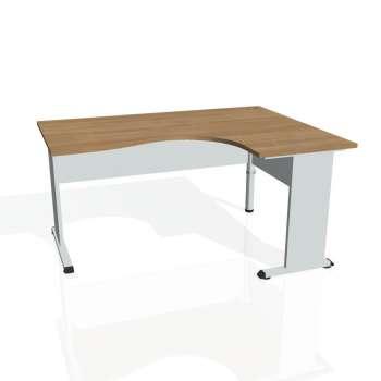 Psací stůl Hobis PROXY PE 2005 levý, višeň/šedá