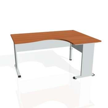 Psací stůl Hobis PROXY PE 2005 levý, třešeň/šedá