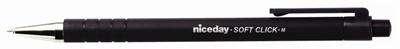 Kuličkové pero Niceday Click Ball Pen - černá náplň, jednorázové, 0,5 mm