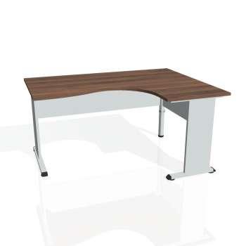 Psací stůl Hobis PROXY PE 2005 levý, ořech/šedá