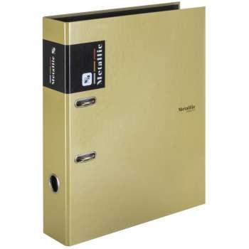 Pákový pořadač Metallic - A4, šíře hřbetu 7 cm, zlatý