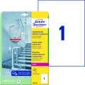 Antimikrobiální etikety Avery Zweckform - transparentní, 210 x 297 mm, 10 ks