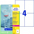 Antimikrobiální etikety Avery Zweckform - transparentní, 105 x 148 mm, 40 ks