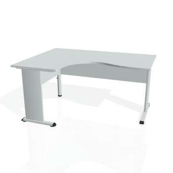 Psací stůl Hobis PROXY PE 2005 pravý, šedá/šedá