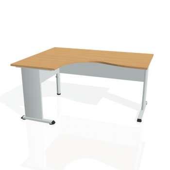 Psací stůl Hobis PROXY PE 2005 pravý, buk/šedá