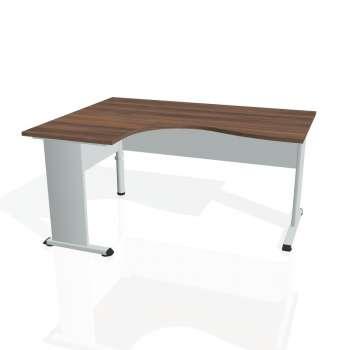 Psací stůl Hobis PROXY PE 2005 pravý, ořech/šedá