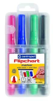 Popisovač na flipcharty Centropen 8560 - sada 4 barev