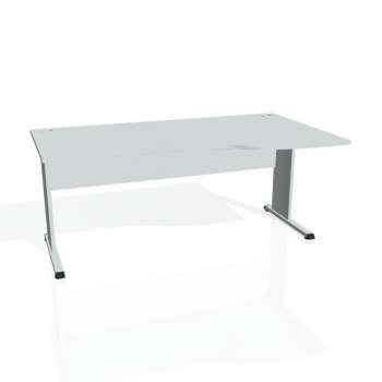 Psací stůl Hobis PROXY PE 1000 levý, šedá/šedá