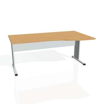 Psací stůl Hobis PROXY PE 1000 levý, buk/šedá