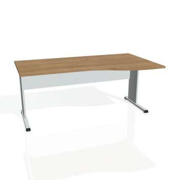 Psací stůl Hobis PROXY PE 1000 levý, višeň/šedá