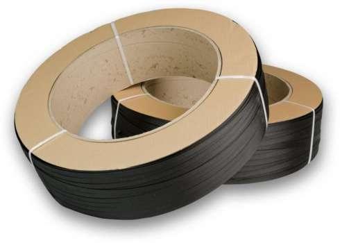 Páska PP ovazovací, pevnost 190 kg, černá