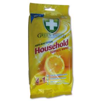 Antibakteriální vlhčené utěrky - GREEN SHIELD, 50 ks