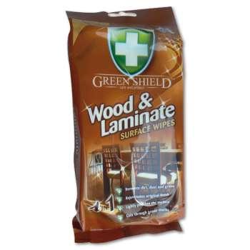 Vlhčené utěrky na dřevo - GREEN SHIELD, 50 ks