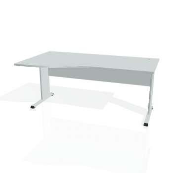 Psací stůl Hobis PROXY PE 1000 pravý, šedá/šedá