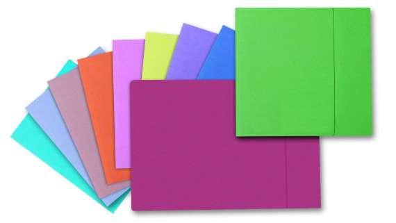 Papírové desky s jednou chlopní, mix barev, 100 ks