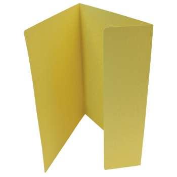 Desky papírové s jednou chlopní, žluté, 20 ks