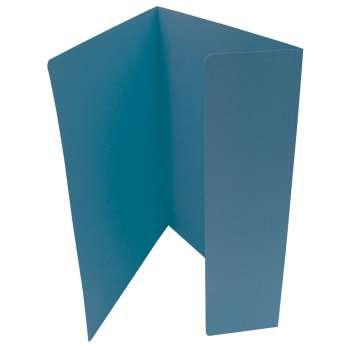 Desky papírové s jednou chlopní, modré, 20 ks