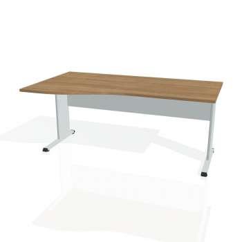 Psací stůl Hobis PROXY PE 1000 pravý, višeň/šedá