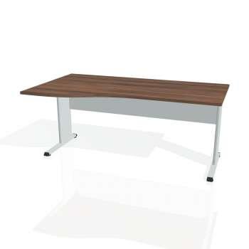 Psací stůl Hobis PROXY PE 1000 pravý, ořech/šedá