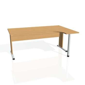 Psací stůl Hobis PROXY PE 1800 levý, buk/buk