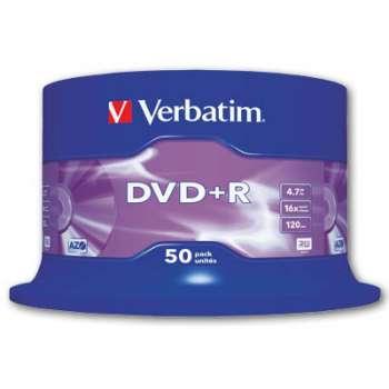 Disky DVD+R Verbatim - cake box, 50 ks