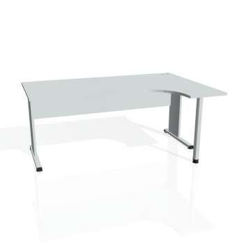 Psací stůl Hobis PROXY PE 1800 levý, šedá/šedá