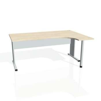 Psací stůl Hobis PROXY PE 1800 levý, akát/šedá