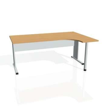 Psací stůl Hobis PROXY PE 1800 levý, buk/šedá