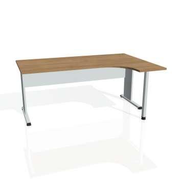 Psací stůl Hobis PROXY PE 1800 levý, višeň/šedá