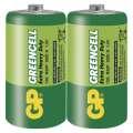 Baterie GP Greencell R20, typ D, velké mono, 2 ks