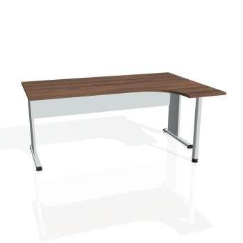 Psací stůl Hobis PROXY PE 1800 levý, ořech/šedá