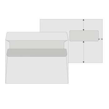 Obálky C5 s okénkem vpravo Office Depot - samolepicí, 50 ks