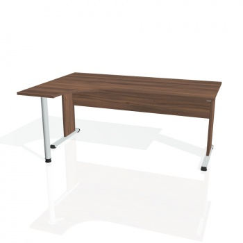 Psací stůl Hobis PROXY PE 1800 pravý, ořech/ořech