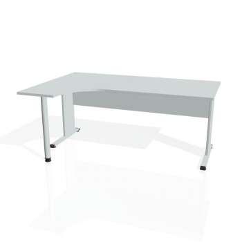 Psací stůl Hobis PROXY PE 1800 pravý, šedá/šedá