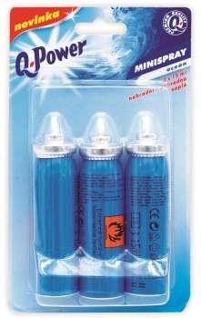Osvěžovač vzduchu - Minispray Q-Power, oceán, náplň - 3 ks