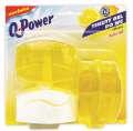 Závěsný tekutý WC gel - Q-Power, citron, 3 x náplň