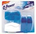 Závěsný tekutý WC gel - Q-Power, oceán, 3 x náplň