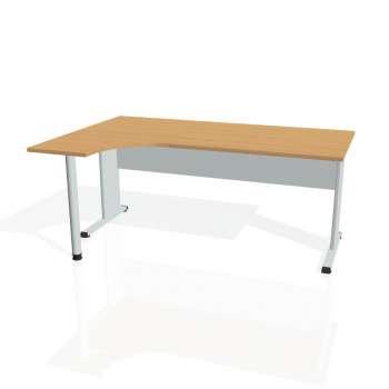 Psací stůl Hobis PROXY PE 1800 pravý, buk/šedá
