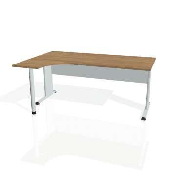 Psací stůl Hobis PROXY PE 1800 pravý, višeň/šedá