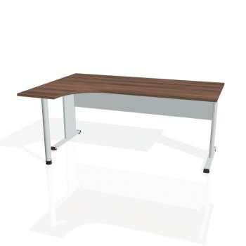 Psací stůl Hobis PROXY PE 1800 pravý, ořech/šedá