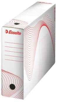 Archivační krabice Esselte - 8 x 24,5 x 33,5 cm, bílá